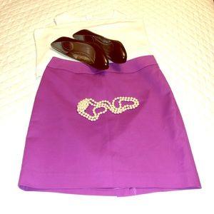 Halogen Magenta Classic Mini Skirt